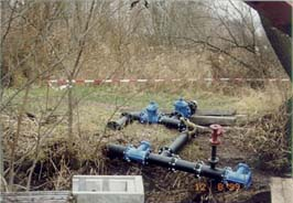 montierter Heberkopf vor Einbau am Auslauf des Tonsee